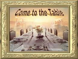 God is calling you to His Table.