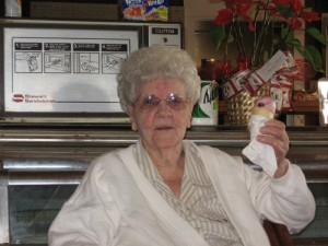 Mama Hunter was not with us this day. She was in Heaven, but, if she could, I know she would have been enjoying a double scoop of Strawberry Ice Cream